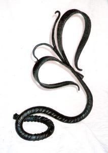 Iron Floral sculpture