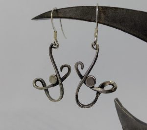 forged silver wire earrings