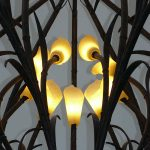 wrought iron chandelier detail