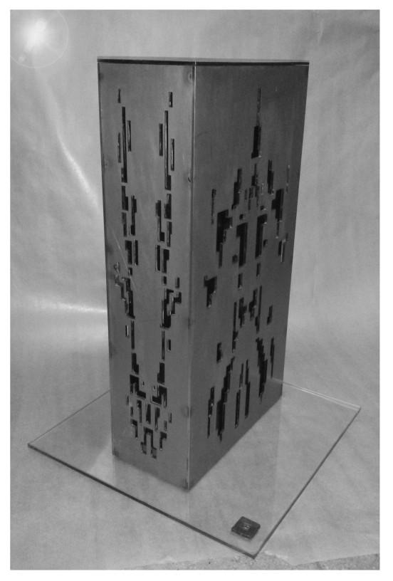 laser cut steel sculpture